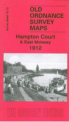 Hampton Court and East Molesey 1912: Surrey Sheet 12.13