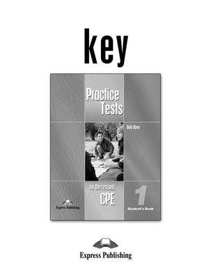 Practice Tests for the Revised Cpe