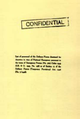 List of Personnel of the Irish Defence Forces Dismissed for Desertion During the Second World War