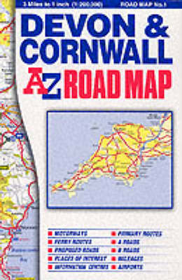 Devon and Cornwall Road Map