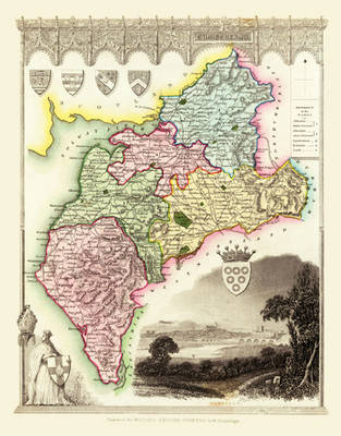 """Thomas Moule Map of Cumberland 1836: 20"""" x 16"""" Photographic Print of the County of Cumberland - England"""