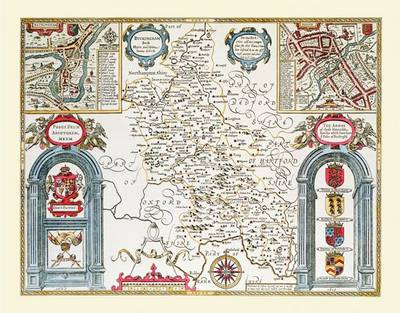 John Speeds Map of Buckinghamshire 1611: Colour Print of County Map of Buckinghamshire 1611 by John Speed