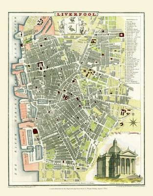 Cole and Roper Map of Liverpool 1807: Colour Print of Liverpool Town Plan 1807 by Cole and Roper