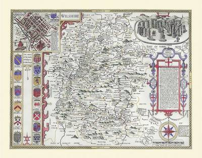 "John Speed's Map of Wiltshire 1611: 30"" x 25"" Large Photographic Poster Print of Wiltshire - England"