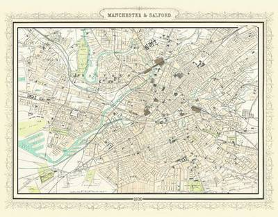 Map of Manchester 1898: Photographic Print of Map of Manchester and Salford 1898