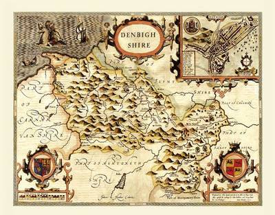 """John Speed Map of Denbighshire 1611: 20"""" x 16"""" Photographic Print of the County of Denbighshire - Wales"""