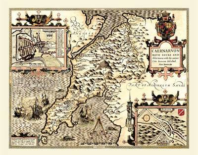 """John Speed Map of Caernarvonshire 1611: 20"""" x 16"""" Photographic Print of the County of Caernarvonshire - Wales"""