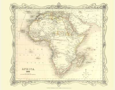 Map of Africa 1852: Photographic Print of Map of Africa 1852