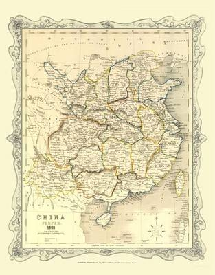 H Collins Map of China 1852: Photographic Print of Map of China 1852