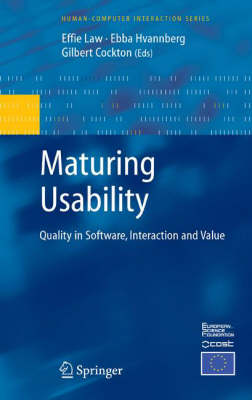 Maturing Usability: Quality in Software, Interaction and Value