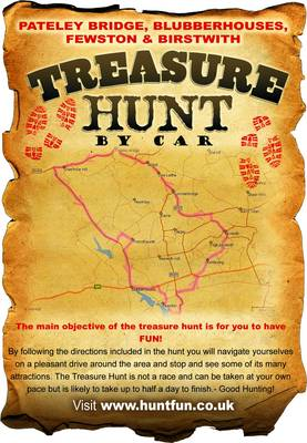 Pateley Bridge, Blubberhouses, Fewston and Birstwith Treasure Hunt by Car