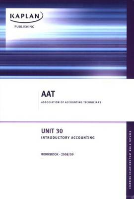 Introductory Accounting: Unit 30: Workbook