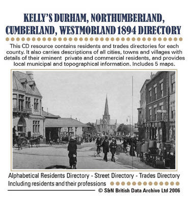 Durham, Northumberland, Westmorland and Cumberland Kelly's 1894 Directory