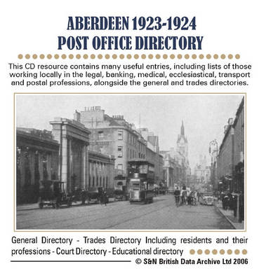 Aberdeenshire, Aberdeen 1923-1924 Post Office Directory