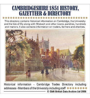 Cambridgeshire 1851 History, Gazetteer and Directory