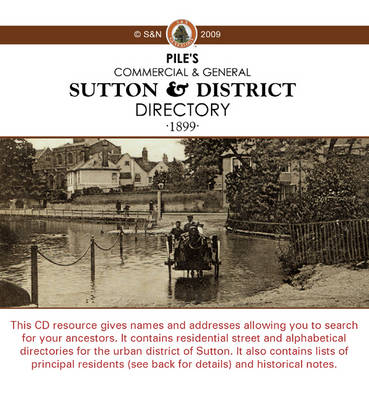 Derbyshire, Sutton and District 1899 Pile's Directory
