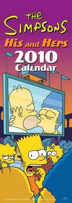 "Official the ""Simpsons"" His N Hers 2010 Slim Calendar"