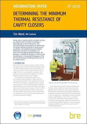 Determining the Minimum Thermal Resistance of Cavity Closers