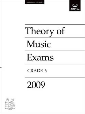 Theory of Music Exams, Grade 6, 2009: Published Theory Papers