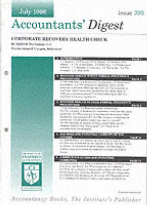 Corporate Recovery Healthcheck