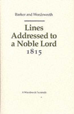 Lines Addressed to a Noble Lord 1815