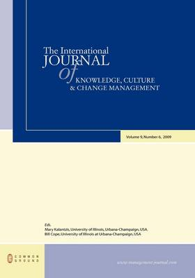 The International Journal of Knowledge, Culture and Change Management: Volume 9, Number 6