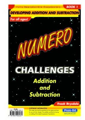 Numero Challenges: Bk. 1: Addition and Subtraction