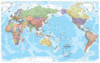 World Supermap (Packaged in Clear Plastic Tubes): Laminated