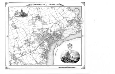 North Shields and Tynemouth 1856 Map