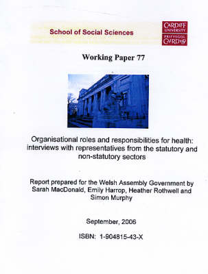 Organisational Roles and Responsibilities for Health - Interviews with Representatives from Statutory and Non - Statutory Sectors: A Report Prepared for the Welsh Assembly Government