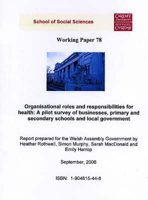 Organisational Roles and Responsibilities for Health - A Pilot Survey of Businesses, Primary and Secondary Schools and Local Governments: A Report Prepared for the Welsh Assembly Government