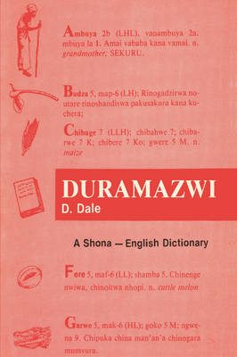 Duramazwi: A Shona-English Dictionary