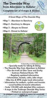 The Deeside Way Complete Set of Maps and Guides: Pack of 4 Maps and Guides of the Deeside Way