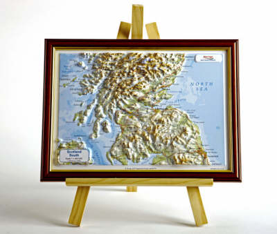Scotland South Raised Relief Map: Unframed