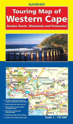 Touring Map of Western Cape: Garden Route, Winelands and Peninsula