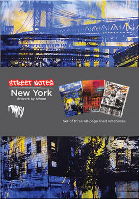 Street Notes-New York Artwork by Avone (Large Hardcover Journal): 144-Page Lined Notebook