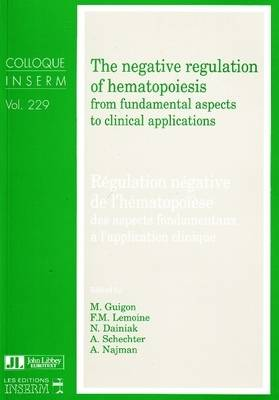 Negative Regulation of Hematopoiesis: From Fundamental Aspects to Clinical Applications