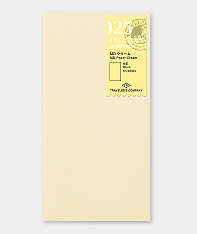 Traveler's Notebook Paper Cream Notebook Refill 025
