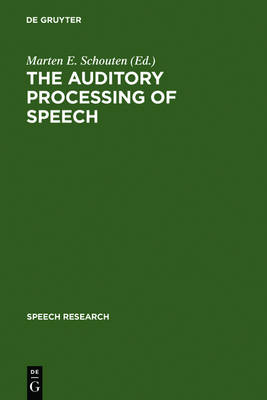 The Auditory Processing of Speech: From Sounds to Words