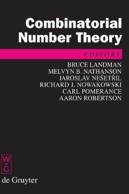 Combinatorial Number Theory: Proceedings of the 'Integers Conference 2007', Carrollton, Georgia, USA, October 24-27, 2007