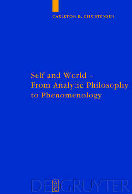 Self and World: From Analytic Philosophy to Phenomenology