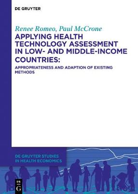 Applying health technology assessment in low- and middle-income countries: Appropriateness and adaption of existing methods