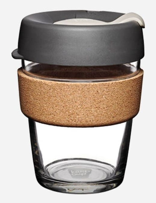 Press 12 oz Glass with Cork Band Re-usable Cup