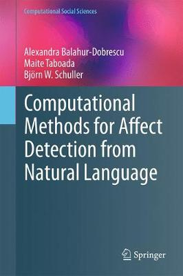 Computational Methods for Affect Detection from Natural Language