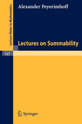 Lectures on Summability