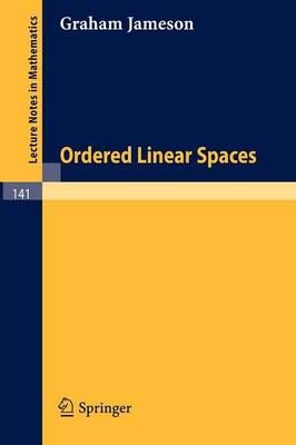 Ordered Linear Spaces