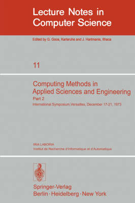 Computing Methods in Applied Sciences and Engineering: International Symposium, Versailles, December 17-21,1973, Part 2