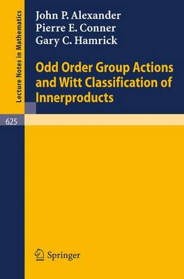 Odd Order Group Actions and Witt Classification of Innerproducts