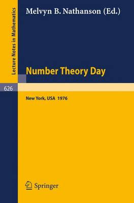 Number Theory Day: Proceedings of the Conference Held at Rockefeller University, New York, 1976
