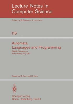 Automata, Languages and Programming: Eighth Colloquium, Acre (Akko), Israel, July 13-17, 1981